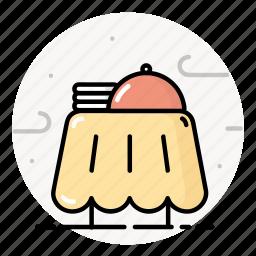 dish, kitchen, plate, restaurant, table icon