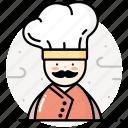 chef, cook, cooking, kitchen, man, restaurant icon