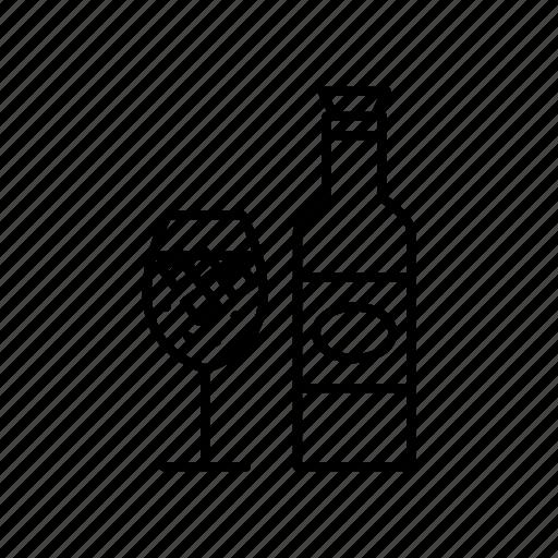 beer, bottle, drink, glass, ice, restaurant icon