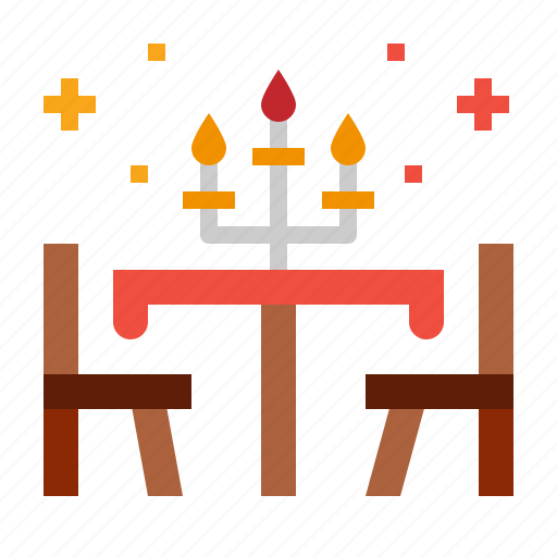candlestick, dinner, restaurant, table icon