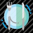 dish, fork, knife, restaurant icon