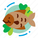 fish, food, restaurant, seafood icon