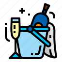 bottle, champagne, drink, glass icon