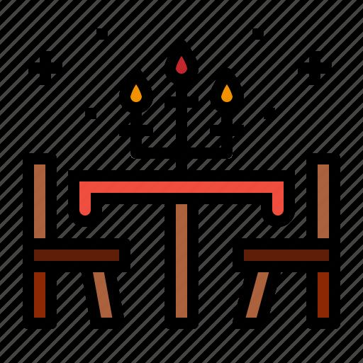 candlestick, dinner, restaurant, table icon