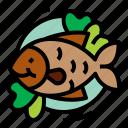 fish, food, restaurant, seafood icon