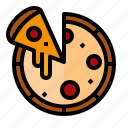 food, italian, pizza, snack icon