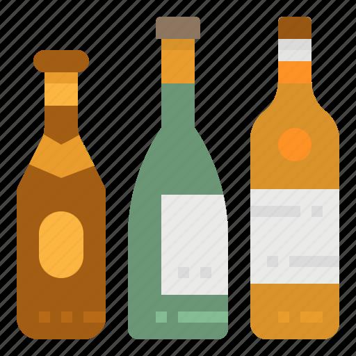 alcoholic, beverage, bottle, drinks, wine icon