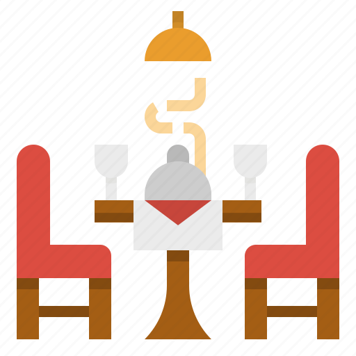 chair, dinner, food, restaurant, table icon