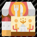cafe, food, meal, restaurant, shop icon