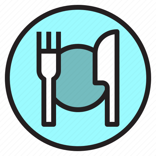 dinner, dish, food, fork, knife, restaurant icon
