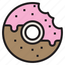 chocolate, dessert, donut, sweet, sweets icon