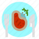 cook, cooking, food, meal, restaurant, steak icon
