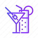 cocktail, cocktails, drink, glass icon