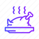 chicken, grilled, leg, meat, turkey icon