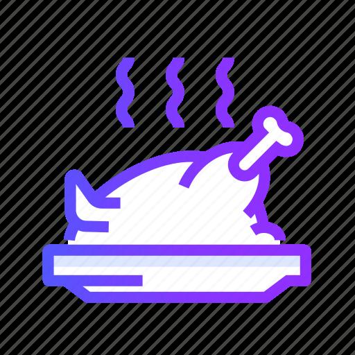 chicken, grilled, leg, meat, turkey icon