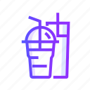 beverage, drink, glass, milkshake icon