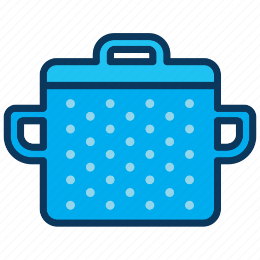 blue pot, cooking, dish, lunch, pot, saucepan icon