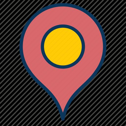 address, destination, location, pin icon