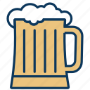 alcohol, beer, draft beer, drink, glass icon