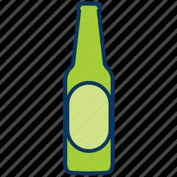 alcohol, beer, beverage, bottle, bottle of beer, drink icon