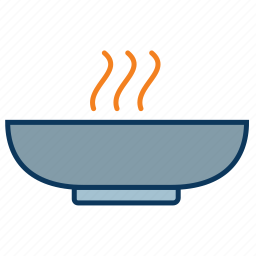 bowl, cooked meal, dish, hot, soup, stew icon