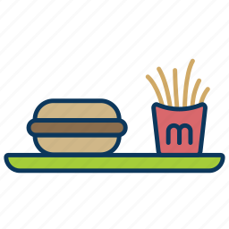 burger, food, fries, happy meal, mc donald's, meal icon