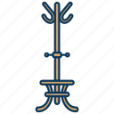clothing, coats, hanger, hat stand icon