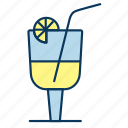 beverage, cocktail, drink, glass, lemonade icon