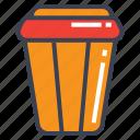 bin, trash, trash bin icon