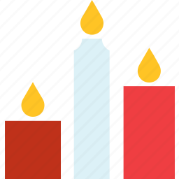 candles, fire, light icon