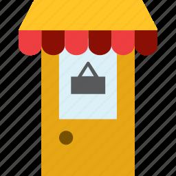 door, entrance, shop, sign, store icon