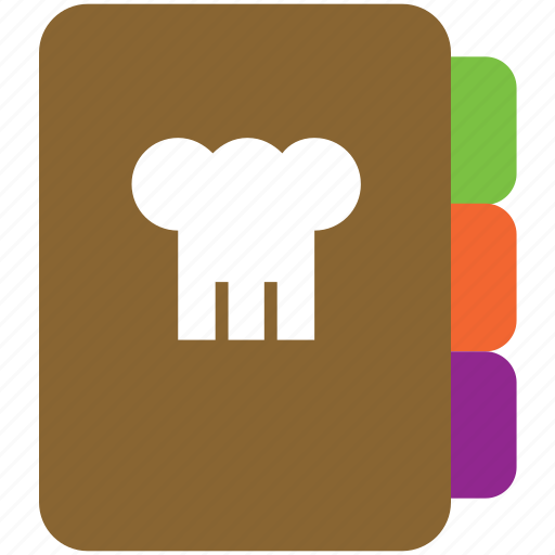 book, chef, cook, cooking, hat, recipe icon