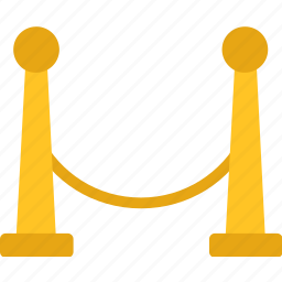 barrier, rope icon