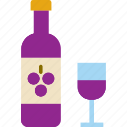 drink, glass, red, wine icon