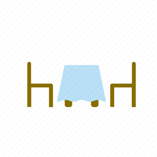 chair, restaurant, table icon