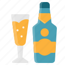 alcohol, beverage, champagne, drink, element, restaurant icon