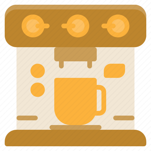 coffee, element, kitchen, machine, restaurant icon