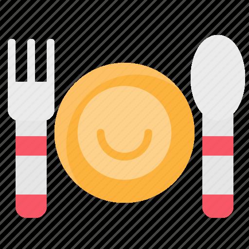 dish, element, food, fork, kitchen, restaurant, spoon icon