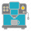 coffee, equipment, kitchen, kitchenware, machine, restaurant icon