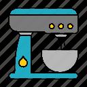 equipment, kitchen, mixer, restaurant, kitchenware