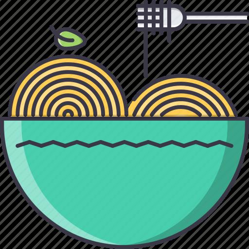 food, fork, pasta, plate, restaurant, spaghetti icon