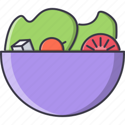 cheese, food, healthy, plate, restaurant, salad, tomato icon