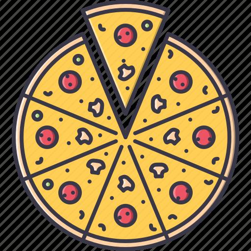 cucumber, food, mushroom, pizza, restaurant, salami icon