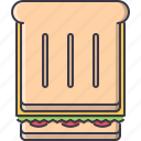 bread, cheese, food, restaurant, salad, sandwich, toast icon