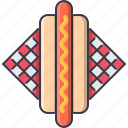 dog, food, hot, napkin, restaurant, sausage icon
