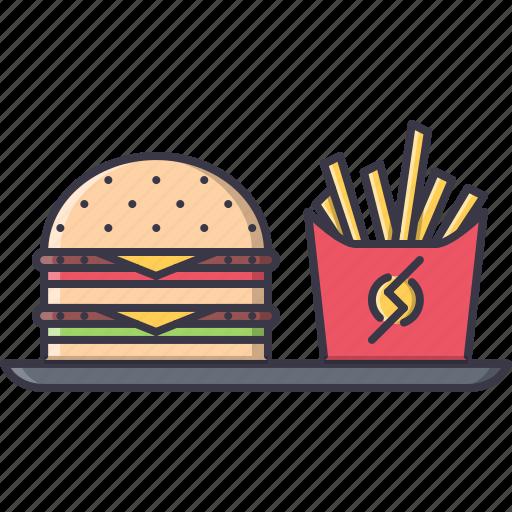 burger, fast, food, restaurant, soda, tray icon