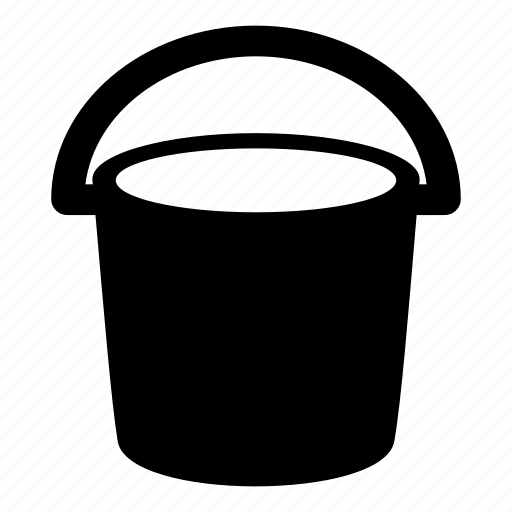 Bucket, Container, Garden, Handle, Pail, Paint Bucket, Water Container Icon