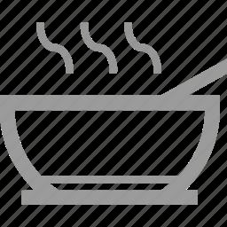 courses, food, menu, restaurant, soups icon