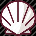 food, ocean, sea, seafood, seashell, shellfish icon