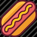 fast food, food, hot dog, hotdog, mustard icon